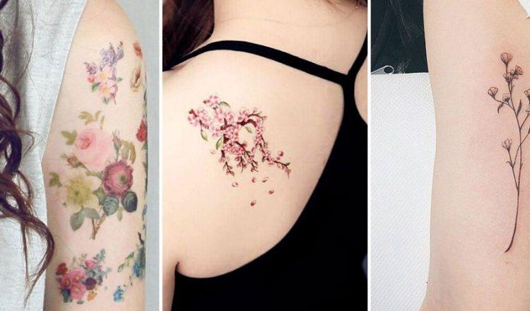Example de tatouage sur les épaules d'une femme