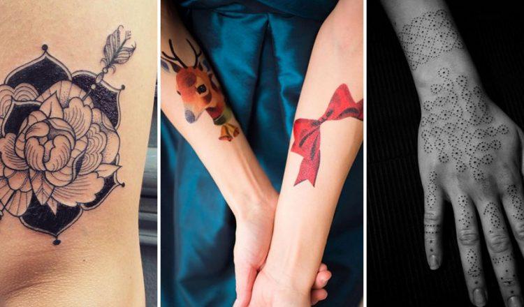 Exemple de tatouage réaliste sur le corps d'une femme