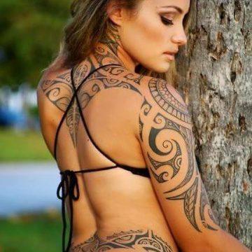 Tatouage Tribal femme : 50+ idées de tatouages et sa signification 68