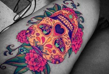 Tatouage Macabre femme : 20+ idées de tatouages et sa signification 51