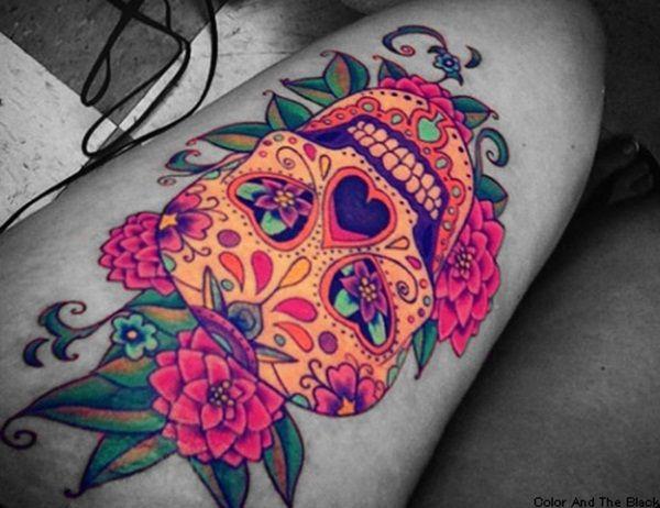 Tatouage Macabre femme : 20+ idées de tatouages et sa signification 16