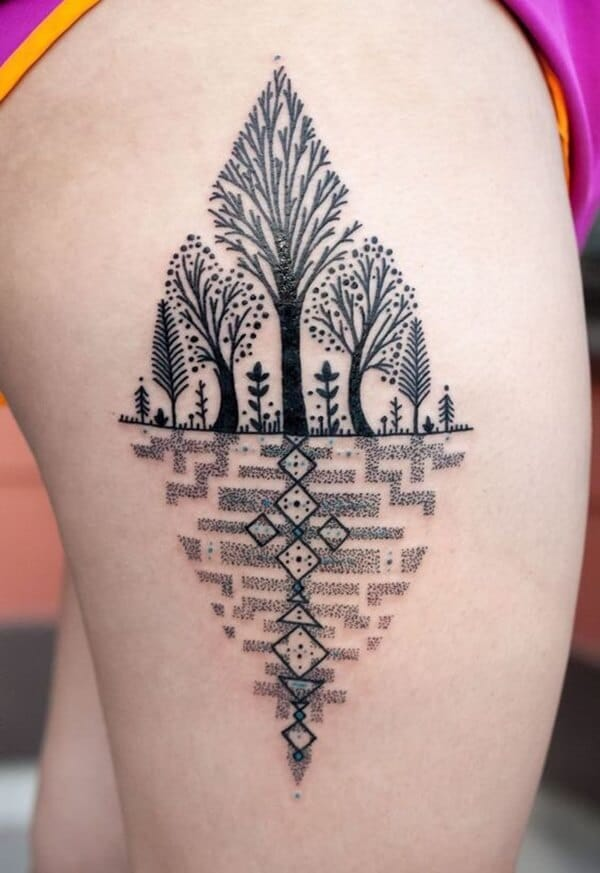 Tatouage abstrait femme : 25+ idées de tatouages et sa signification 9