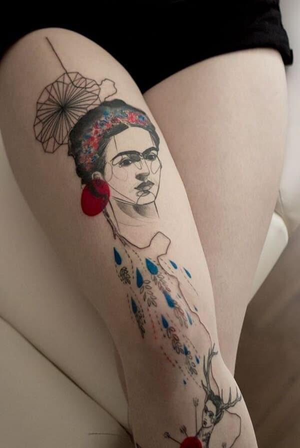 Tatouage abstrait femme : 25+ idées de tatouages et sa signification 13