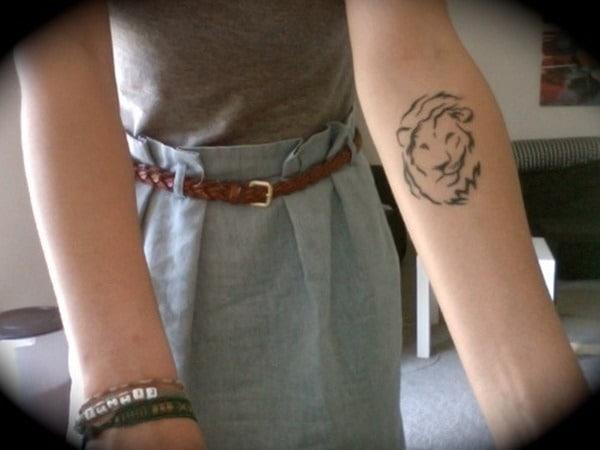 Tatouage lion femme : 30+ idées de tatouages et sa signification 6