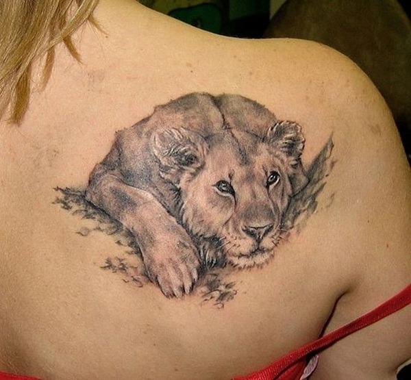 Tatouage lion femme : 30+ idées de tatouages et sa signification 10