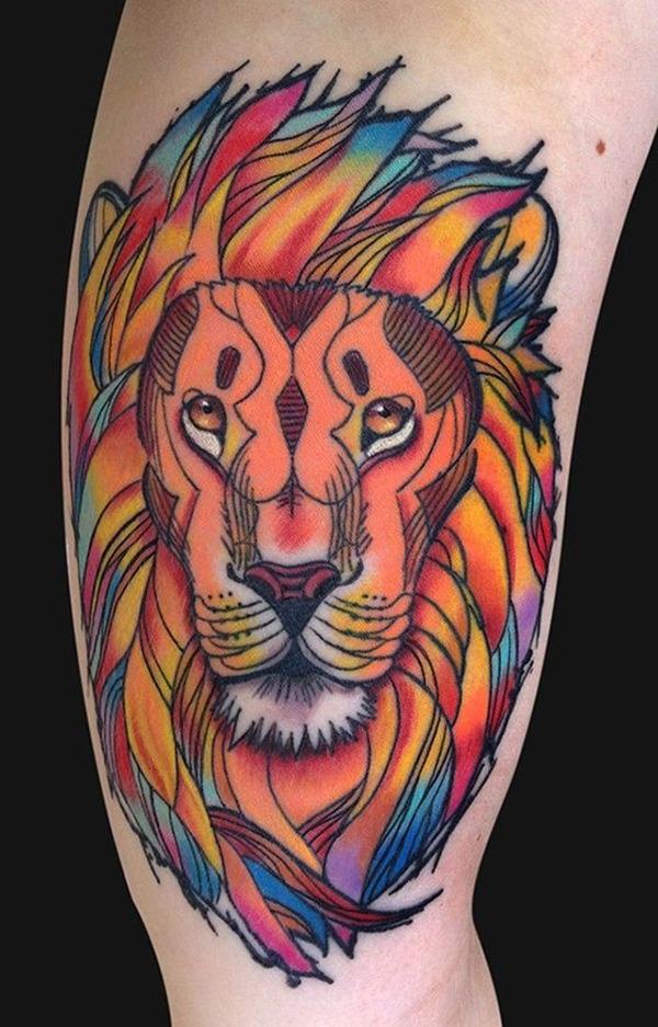 Tatouage lion femme : 30+ idées de tatouages et sa signification 2