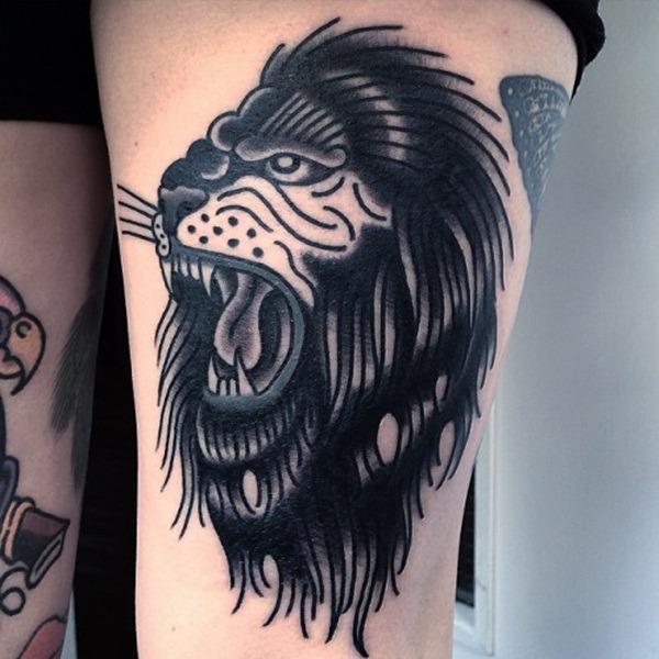 Tatouage lion femme : 30+ idées de tatouages et sa signification 13