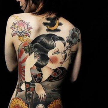 Tatouage geisha : 25+ idées de tatouages 4