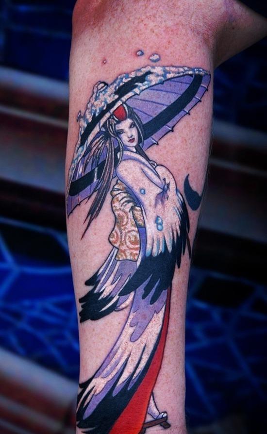 Tatouage geisha : 25+ idées de tatouages 24