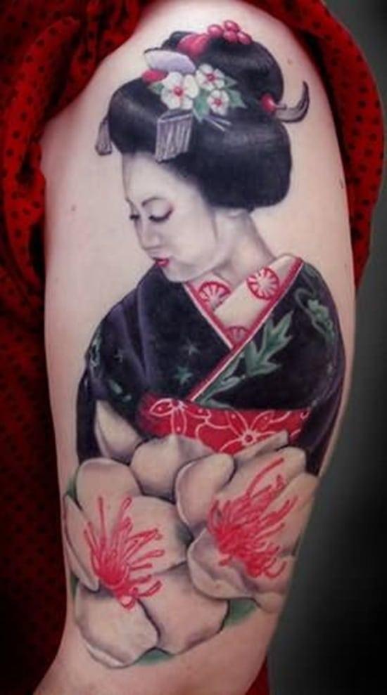 Tatouage geisha : 25+ idées de tatouages 6