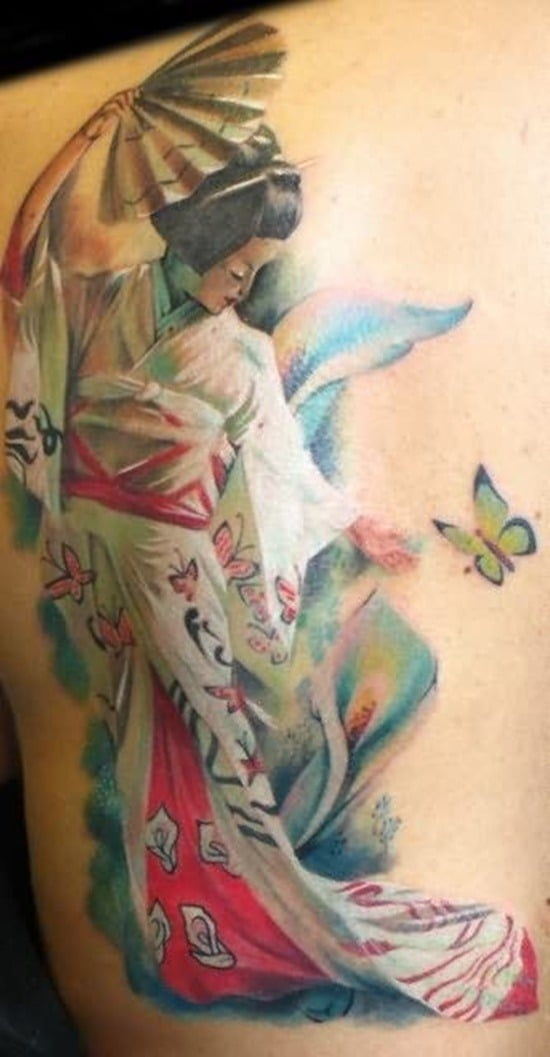 Tatouage geisha : 25+ idées de tatouages 8