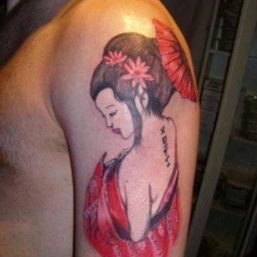 Tatouage geisha : 25+ idées de tatouages 9