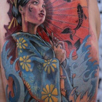 Tatouage geisha : 25+ idées de tatouages 10