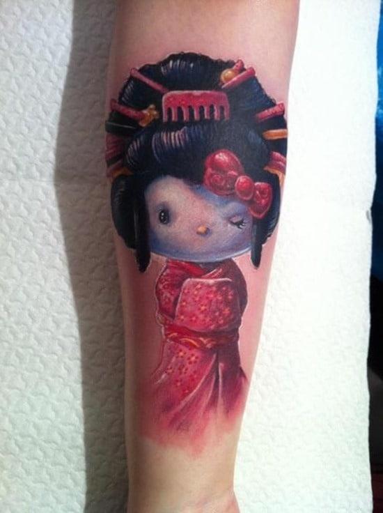 Tatouage geisha : 25+ idées de tatouages 12