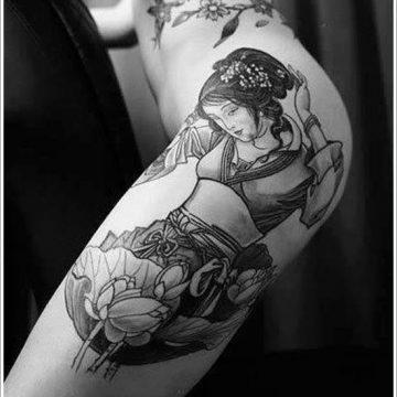 Tatouage geisha : 25+ idées de tatouages 25