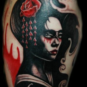 Tatouage geisha : 25+ idées de tatouages 13