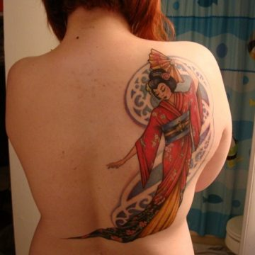 Tatouage geisha : 25+ idées de tatouages 136