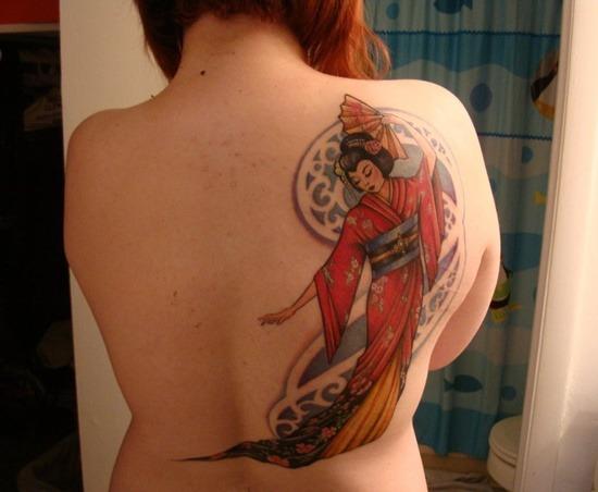 Tatouage geisha : 25+ idées de tatouages 15