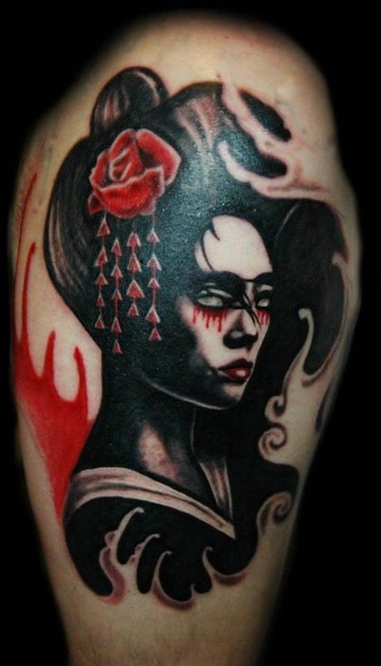 Tatouage geisha : 25+ idées de tatouages 17