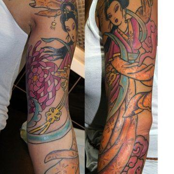 Tatouage geisha : 25+ idées de tatouages 23