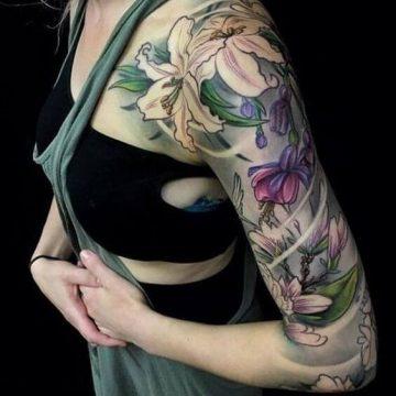 Tatouage manchette femme : 50+ idées de tatouages et leurs significations 58