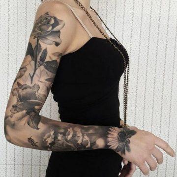 Tatouage manchette femme : 50+ idées de tatouages et leurs significations 59