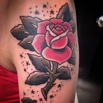 Tatouage rose : 150+ idées de tatouages et leurs significations 255