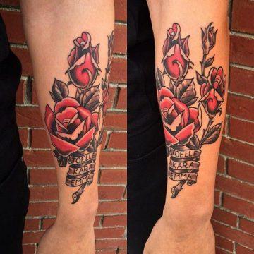 Tatouage rose : 150+ idées de tatouages et leurs significations 144