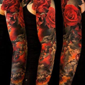 Tatouage rose : 150+ idées de tatouages et leurs significations 155