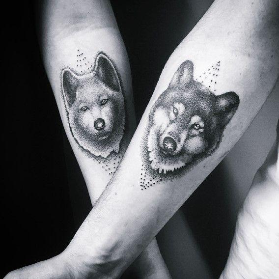 Meilleur tatouage de loup pour hurler sur la lune 48