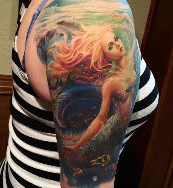 191 tatouages de sirène pour ceux qui sont obsédés par les sirènes 42