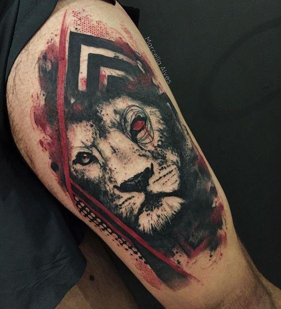 Le meilleur tatouage de lion pour vous et votre roi intérieur de la jungle! Top 151 2