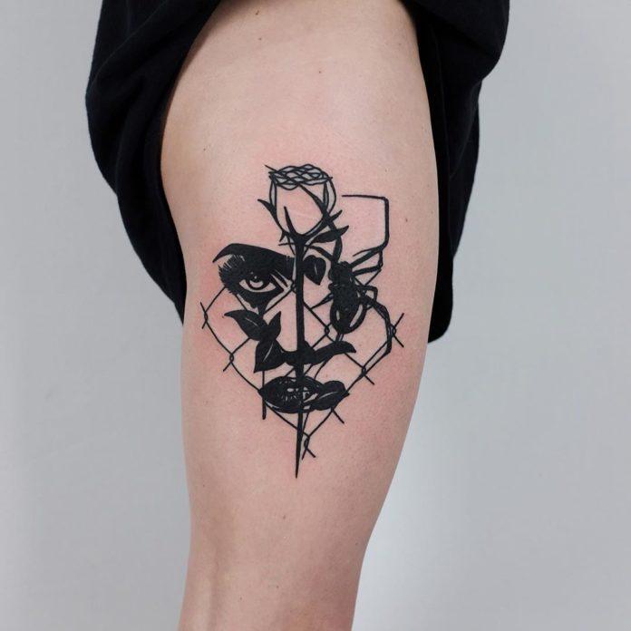 100 1 - 100 Tatouages Rose pour Femme