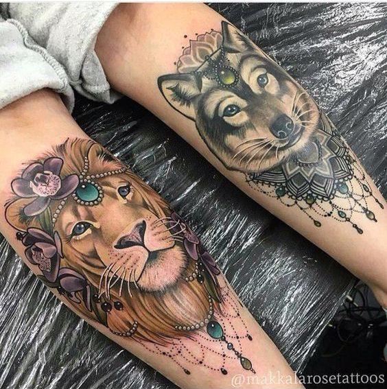 Le meilleur tatouage de lion pour vous et votre roi intérieur de la jungle! Top 151 52