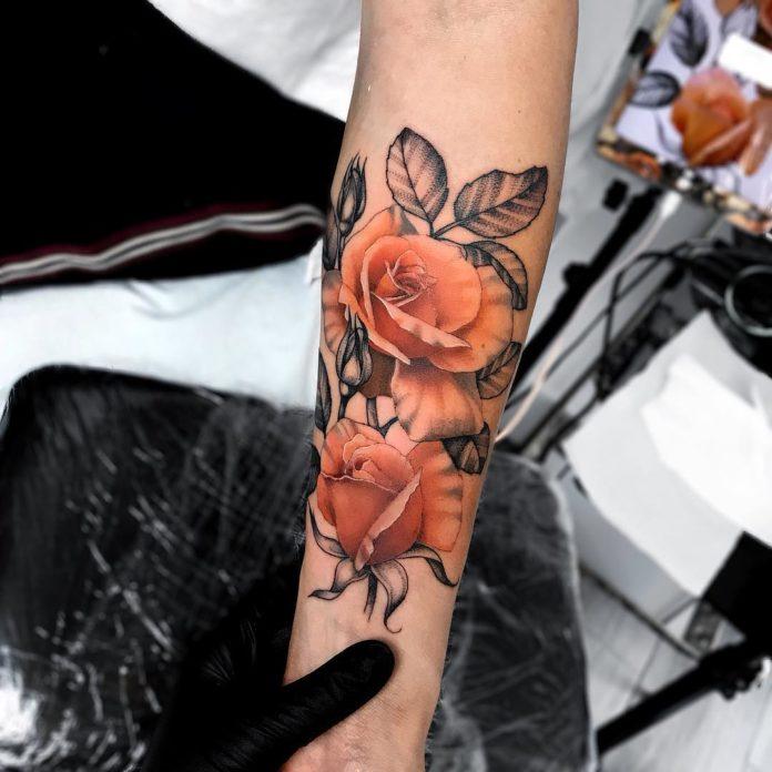 14 81-100 tatouages roses pour femmes
