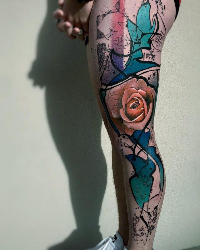 15 84-100 tatouages roses pour femmes