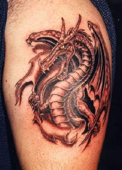 Dragon man tatoo