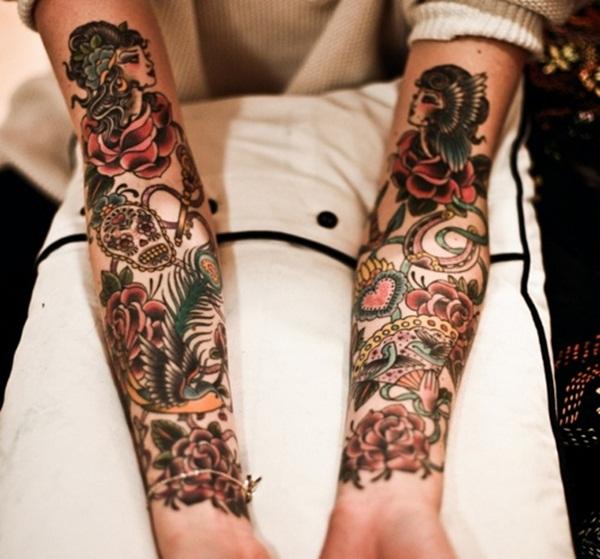 Dessins de tatouage avec demi-manche 31
