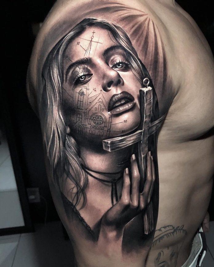 17 2-40 tatouages croisés pour hommes