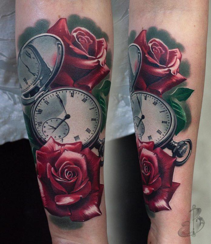 17 87-100 tatouages roses pour femmes