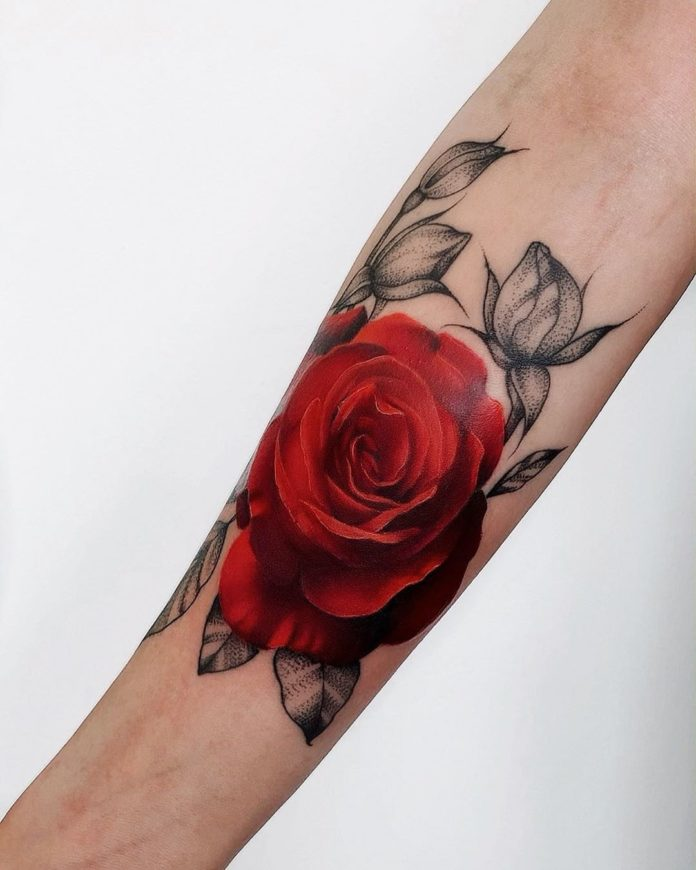20 96-100 tatouages roses pour femmes