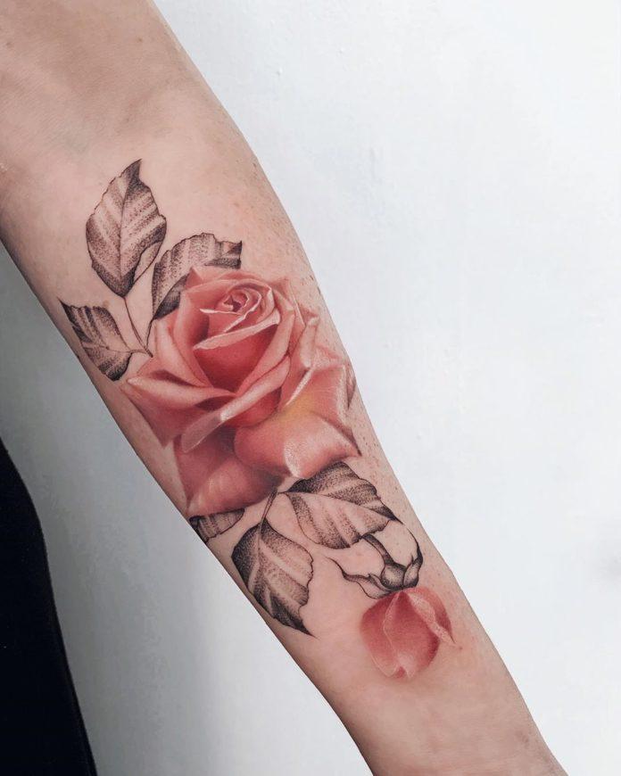 21 97-100 tatouages roses pour femmes