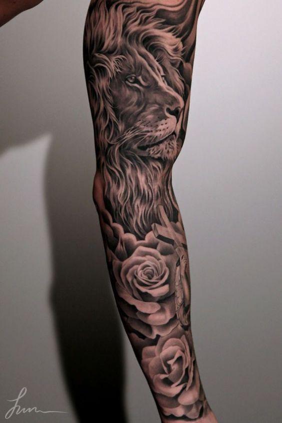 Le meilleur tatouage de lion pour vous et votre roi intérieur de la jungle! Top 151 6