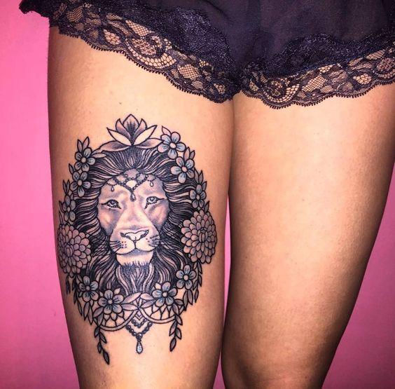 Le meilleur tatouage de lion pour vous et votre roi intérieur de la jungle! Top 151 8