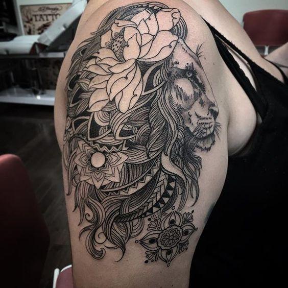 Le meilleur tatouage de lion pour vous et votre roi intérieur de la jungle! Top 151 10