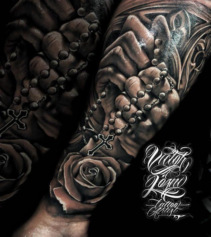 30 2-40 tatouages croisés pour hommes