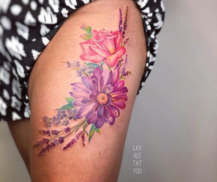 35 1-100 tatouages roses pour femmes