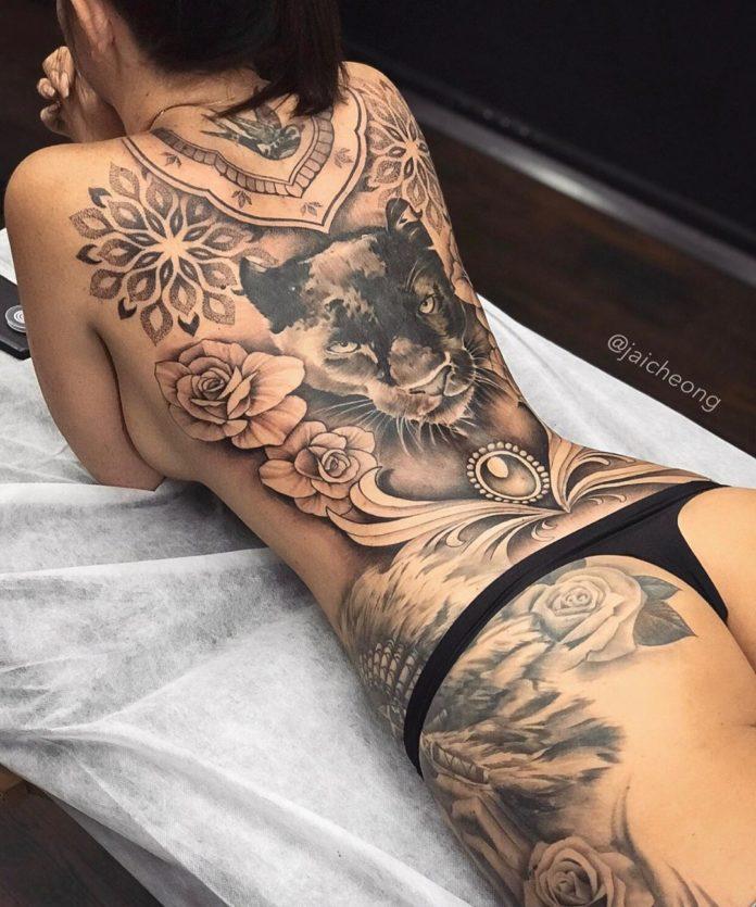 39 1-100 tatouages roses pour femmes