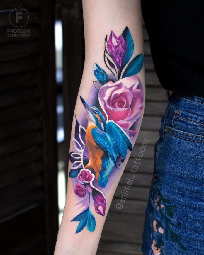 4 36-100 tatouages roses pour femmes