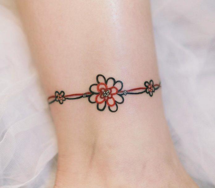 4 - 50 tatouages de cheville pour femmes